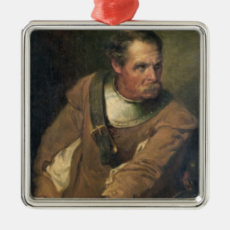 The Ironside (oil on canvas) (pair of 124491) Silver-Colored Square Decoration