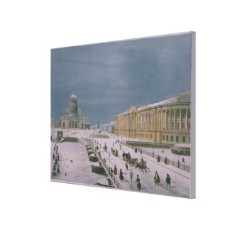 The Isaac Cathedral and the Senate Square Canvas Print