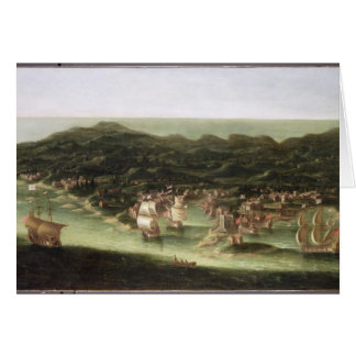 The Island of Barbados, c.1694 (oil on canvas) Card