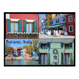 The Island of Burano, Italy Postcard