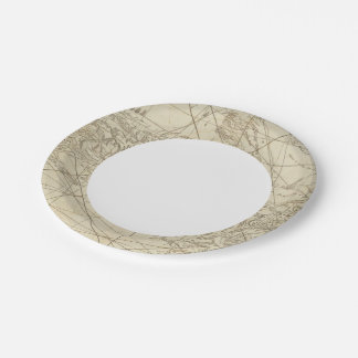 The Island of Cuba with part of the Bahama Banks Paper Plate