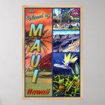 The Island of Maui Hawaii Poster