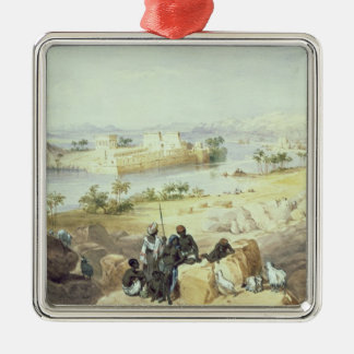 The Island of Philae, looking down the River Nile Christmas Ornament