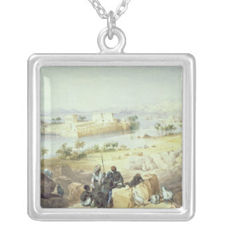 The Island of Philae, looking down the River Nile Silver Plated Necklace