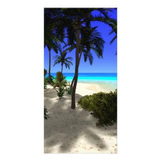 The island customized photo card