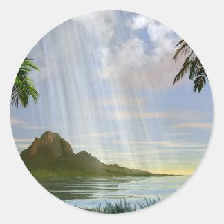The Island Round Sticker