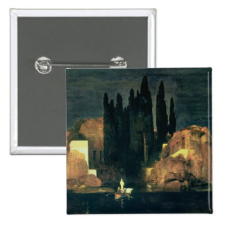 The Isle of the Dead, 1880 (oil on canvas) 15 Cm Square Badge