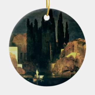 The Isle of the Dead, 1880 (oil on canvas) Round Ceramic Decoration