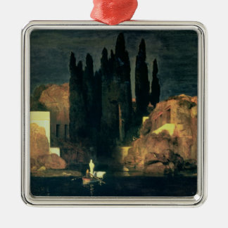 The Isle of the Dead, 1880 (oil on canvas) Silver-Colored Square Decoration