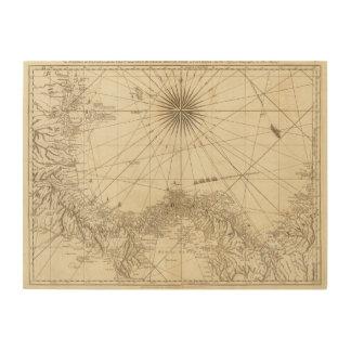 The Isthmus of Panama Wood Print