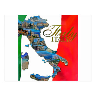 "The Italian ""Boot"" Postcard"