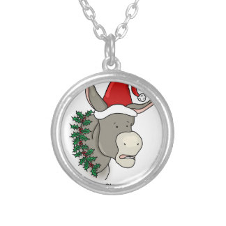The Italian Christmas Donkey Silver Plated Necklace