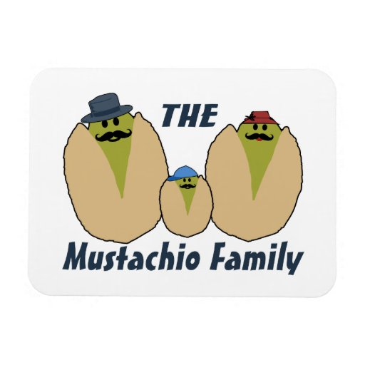 The Italian Mustachio Family Vinyl Magnets