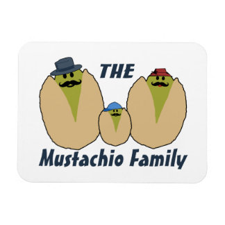 The Italian Mustachio Family Rectangular Photo Magnet