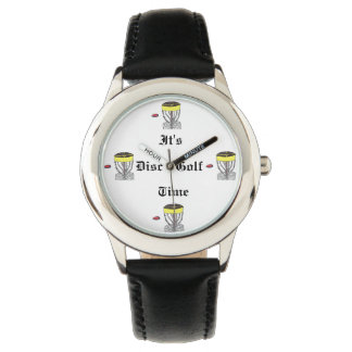 The It's disc golf time wrist watch