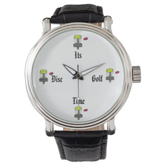 The Its Disc Golf Time wrist watch