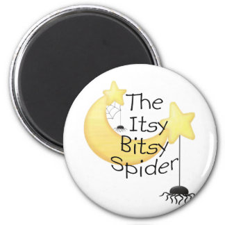 The itsy Bitsy Spider 6 Cm Round Magnet