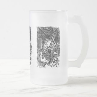 The Jabberwocky Frosted Glass Beer Mug