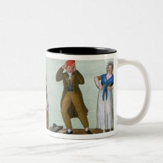 The Jacobin Knitters Two-Tone Coffee Mug