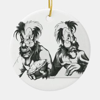 The Janus Brothers Round Ceramic Decoration
