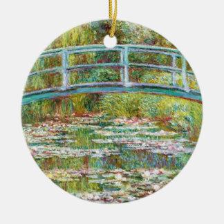 The Japanese Bridge 1899 Claude Monet Double-Sided Ceramic Round Christmas Ornament