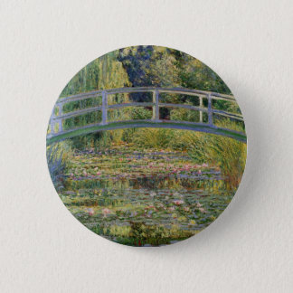 The Japanese Bridge by Claude Monet 6 Cm Round Badge
