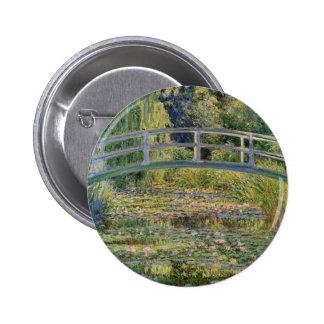 The Japanese Bridge by Claude Monet 6 Cm Round Badge