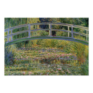 The Japanese Bridge by Claude Monet Poster