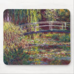The Japanese Bridge Claude Monet cool, old, master Mouse Mats
