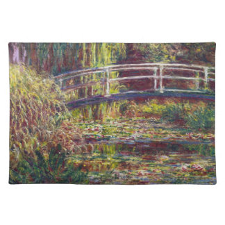 The Japanese Bridge Claude Monet cool, old, master Placemat