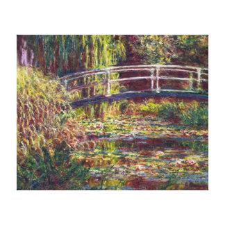 The Japanese Bridge Claude Monet  painting Canvas Print