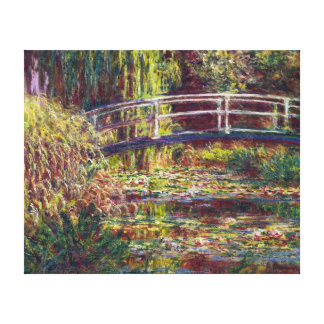 The Japanese Bridge Claude Monet  painting Canvas Print