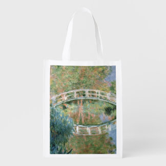 The Japanese Bridge, Giverny, 1892 (oil on canvas) Reusable Grocery Bags