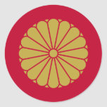 the Japanese Emperor, Japan Round Sticker