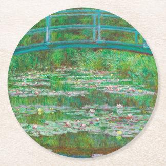 The Japanese Footbridge Round Paper Coaster