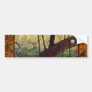 The Japanese hobby Flower Hiroshige s copying o Bumper Sticker