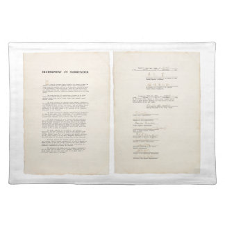 The Japanese Instrument of Surrender (1945) Placemat