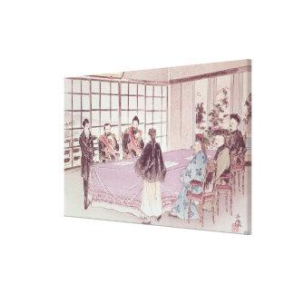 The Japanese ministers I-Tso and Mou-Tsou Gallery Wrap Canvas