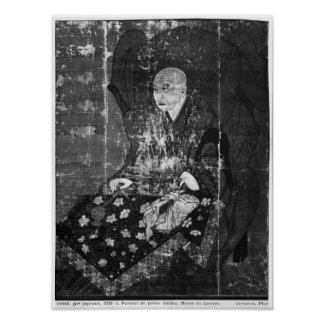 The Japanese priest Jitchin Poster