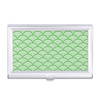 The Japanese traditional pattern Seikai wave Japan Business Card Holder