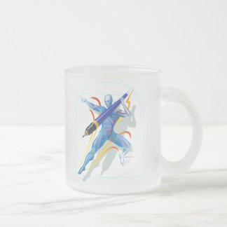 The Javelin Thrower Frosted Glass Mug