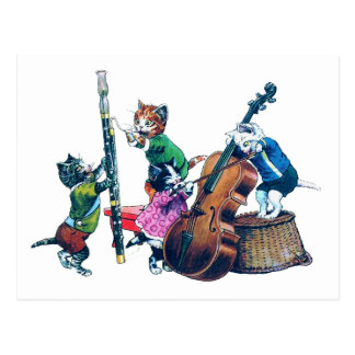 The Jazz Cats Band Postcard