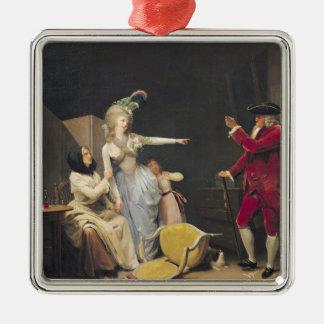 The Jealous Old Man, 1791 Christmas Ornament