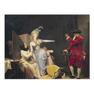 The Jealous Old Man, 1791 Postcard