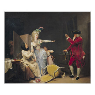 The Jealous Old Man, 1791 Poster