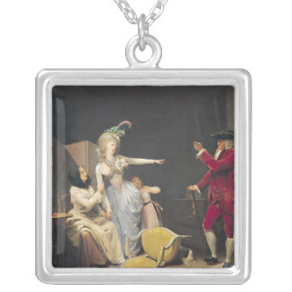 The Jealous Old Man, 1791 Silver Plated Necklace