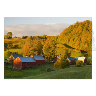 The Jenne Farm in Woodstock, Vermont. Fall. 2 Card