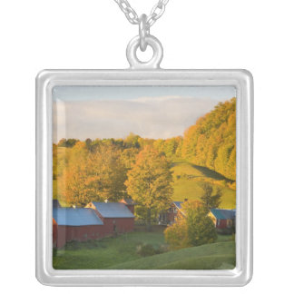 The Jenne Farm in Woodstock, Vermont. Fall. 2 Silver Plated Necklace