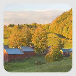 The Jenne Farm in Woodstock, Vermont. Fall. 2 Square Sticker