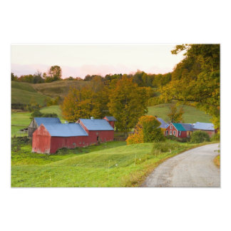 The Jenne Farm in Woodstock, Vermont. Fall. Photo Print